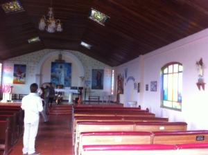 Inside Mision de Santa Maria